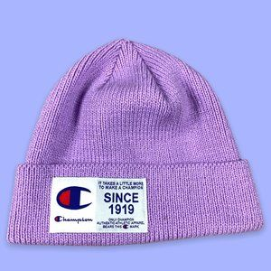 Champion Beanie Acrylic in Purple